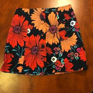 Topshop Floral Mini Skirt